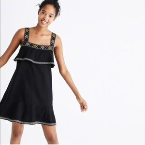NWT Madewell Embroidered Tier Dress
